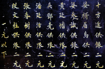 Chinese writing at Hanoi Pagoda