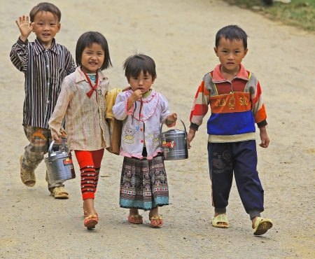 Kids in Sapa Vietnam