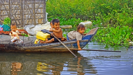 Learning the trade Floating Villages Cambodia