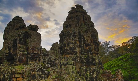 Storm clouds over Bayon at sunset web ready