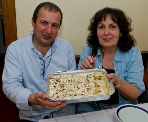 Our hosts at the villa - Mirella & Stefano