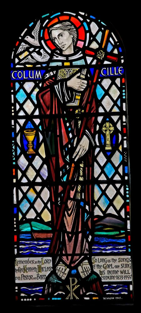 Iona Abbey stained-glass.