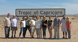 Group at tropic of Capricorn