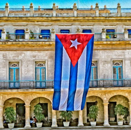 _E7A6110 Cuban Flag hanging on building web ready